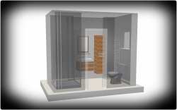 مدل 3 بعدی حمام